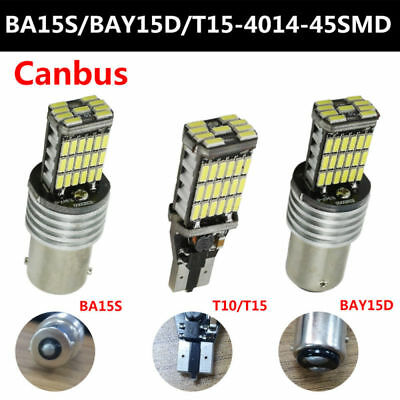2X P21W 382 BA15S 1156 LED 5050 SMD CANBUS ERROR FREE WHITE TAIL SIDE LIGHT BULB