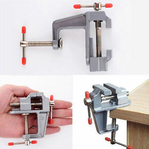 New 3.5 Aluminum Mini Small Jewelers Hobby Clamp On Table Bench Vise Tool Vice G 664083566138