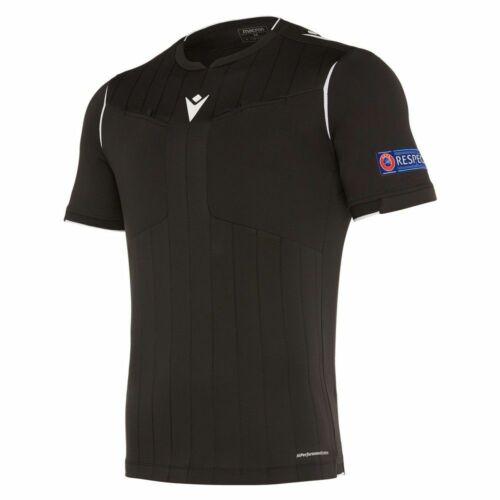 Macron Football Soccer UEFA Referee 19 Mens Short Sleeve SS Shirt Jersey Top