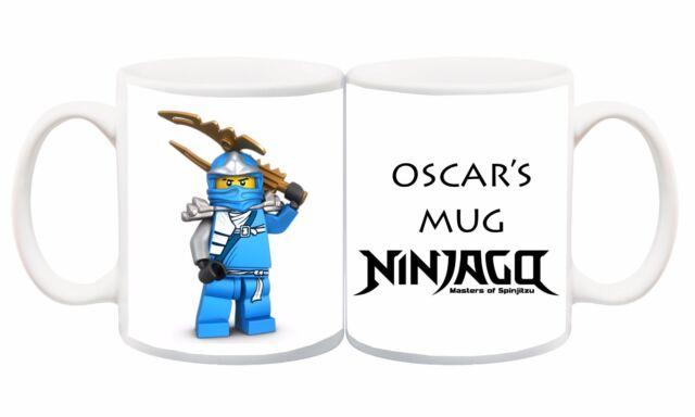 10 Lego Ninjago Kai Jay Lloyd Personalised Customised name mug cup Gift kids