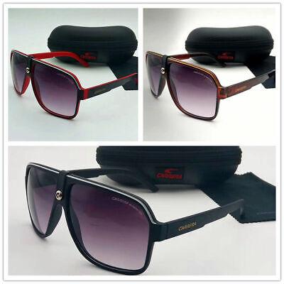 4c784cee11c6 Details about Men & Women's Retro Sunglasses Unisex Matte Frame Carrera  Glasses + Box AC26