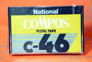 National-Compos-C-46-Japan-1978-Metal-Cassette-Tape-SEALED-JP-Market