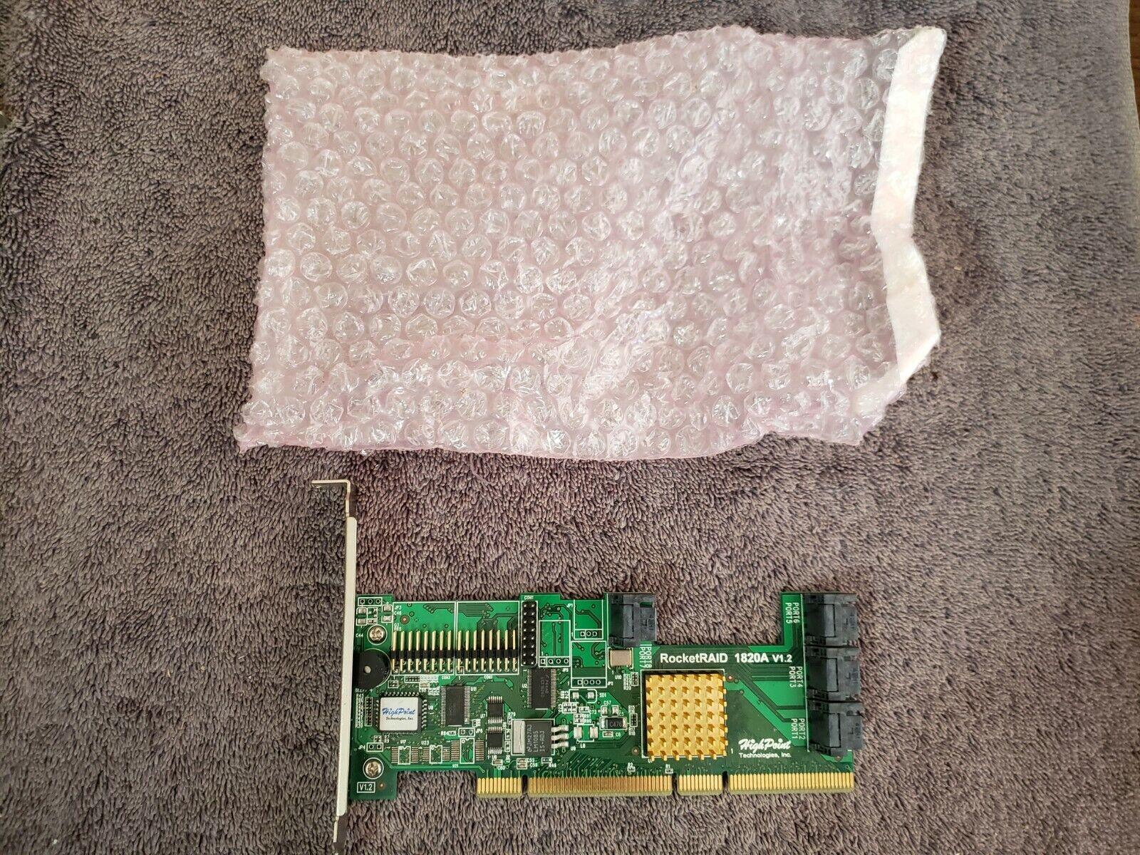 New HighPoint RocketRAID 1820A 8 Port SATA RAID Controller Card PCI-X 64 bit