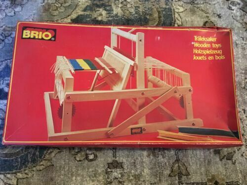 BRIO Wooden Collapsible Portable Weaving Loom Sweden Tabletop 31380 for  sale online | eBay