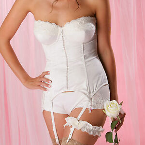 Pour moi ceremony padded bridal strapless basque ivory a g for Padded strapless bra for wedding dress