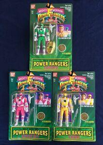 Mighty Morphin Power Rangers Set Of Three Action Figures