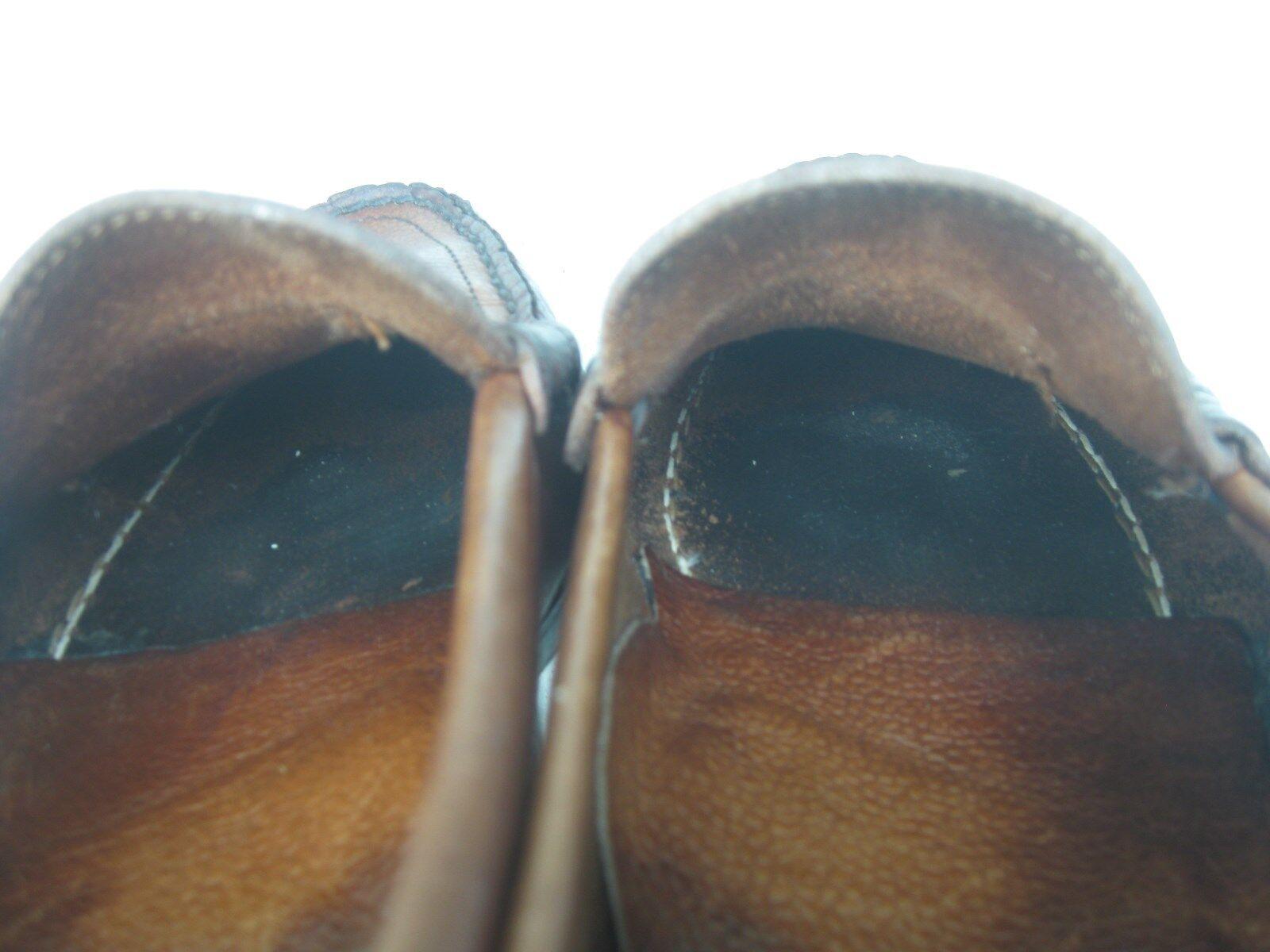 Angustiado marrón Hecho En Usa Slip On Penny mocasín mocasín mocasín conducción Moccasin Talla 9.5 m 3ce6d1