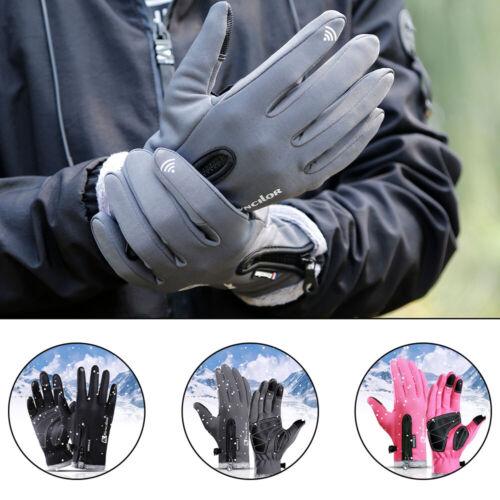 Winter Warm Gloves Men Women Windproof Waterproof Touch Screen Fleece Ski Mitten