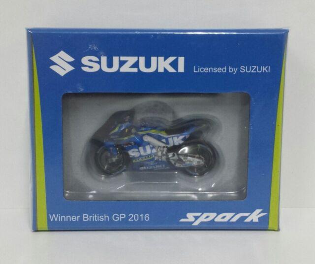 SPARK 1/43 MAVERICK VINALES MODEL SUZUKI GSX-R ECSTAR BRITISH MOTOGP 2016 NEW