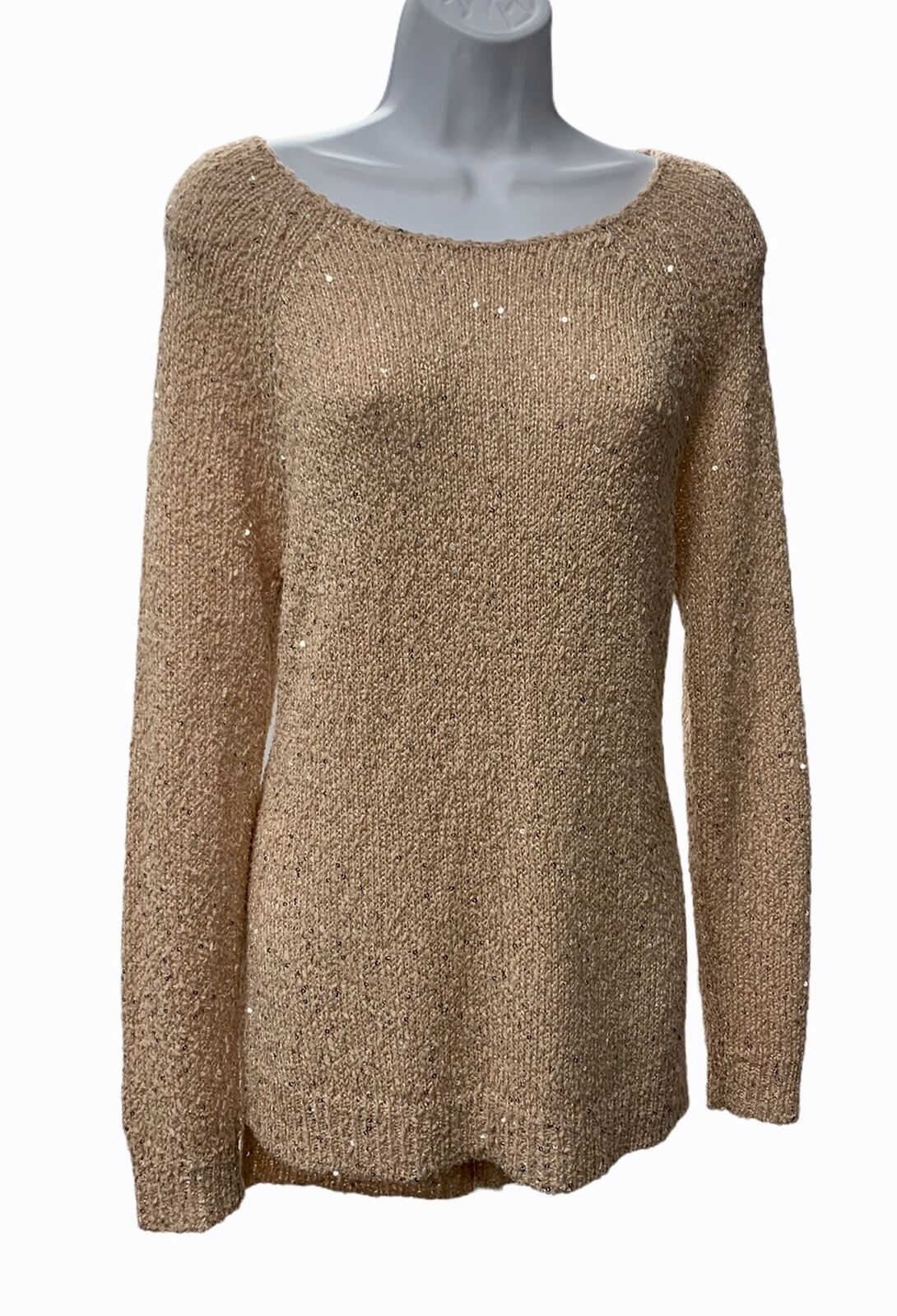 Chico's Sequin Claire Knit Sweater Womens Light P… - image 4