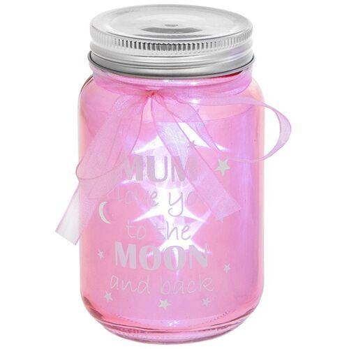 Firefly Jar Sentiment Mum Love You Moon & Back Ornament Gift Novelty