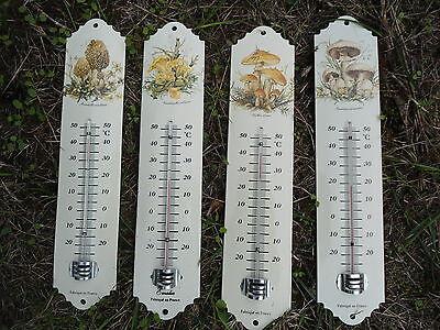 thermomètre émaillé Jardin Maison Fleurs Baies Fruits 30cm Neuf émail véritable