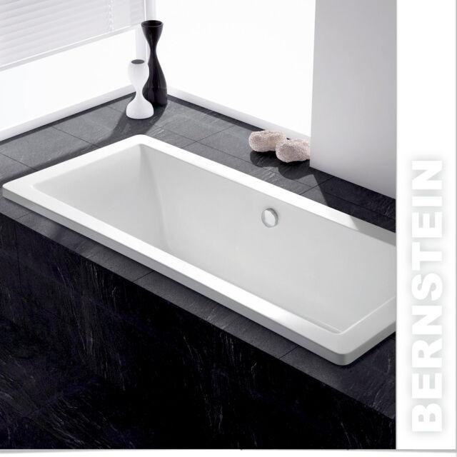BERNSTEIN Acryl Badewanne 150 - 180cm Gestell / Ab - Überlauf  Zulauf / Viega