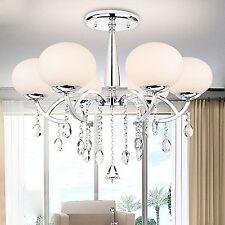 Modern Elegant Crystal Chandelier Ceiling Fixture Lighting 6-Light Pendant Lamp