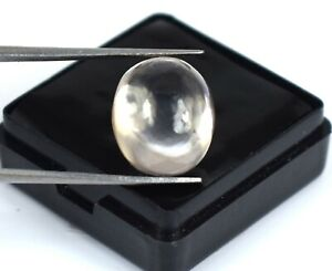 White Sapphire Earthmined 14.45 Ct Natural Gems Oval Cabochon Certified A28301