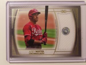 JOEY VOTTO 2021 TOPPS DEFINITIVE BASEBALL GAME WORN JERSEY PATCH 45/50 REDS