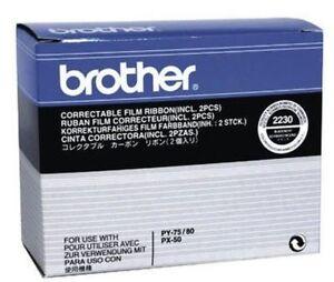 Brother 2230 Ruban Ribbon 2er Pack Pour Py-75 Py-80 Px-50 Neuf Dans Sa Boîte A-afficher Le Titre D'origine T7czrxms-07155229-450843183
