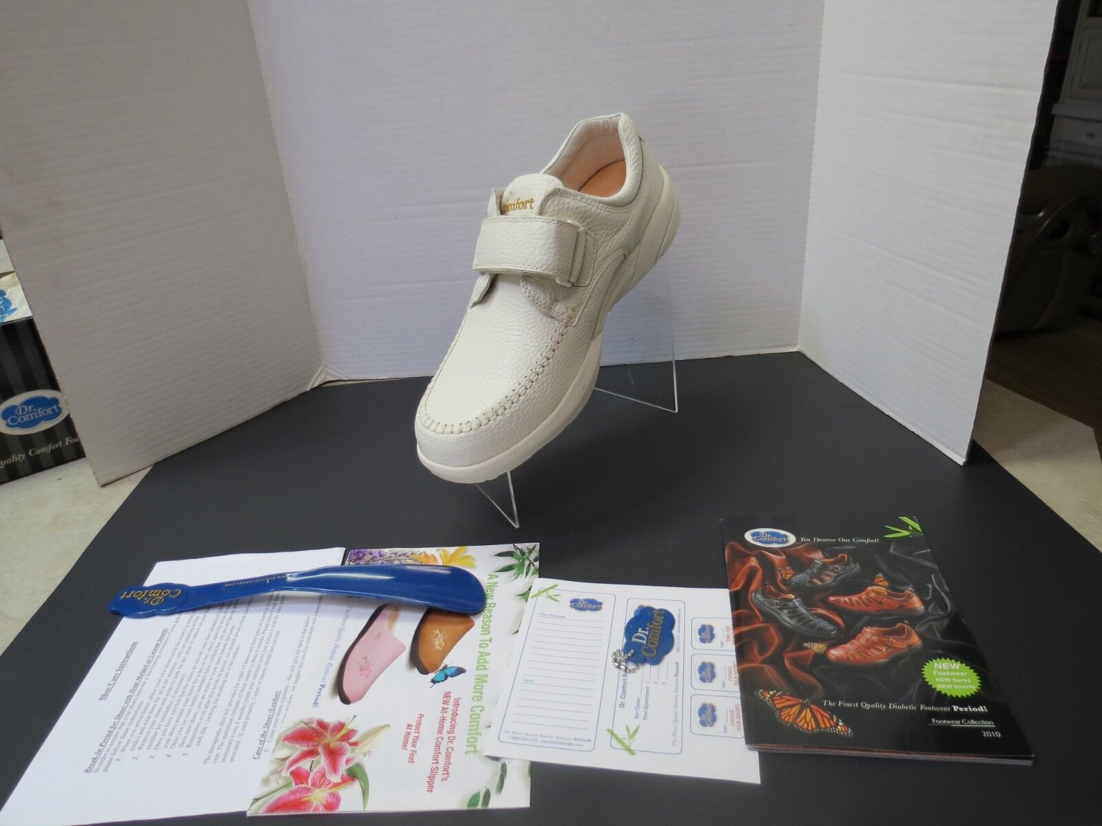 Zapatos De Cuero Dr. Comfort Scott Hombres blancoo terapéutico diabética  9040 11W Nuevo