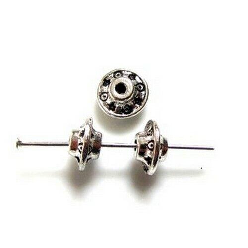 10 Intercalaires spacer /_ TOUPIE Bicône 8.5x5mm /_ Perles apprêts créa bijou A170