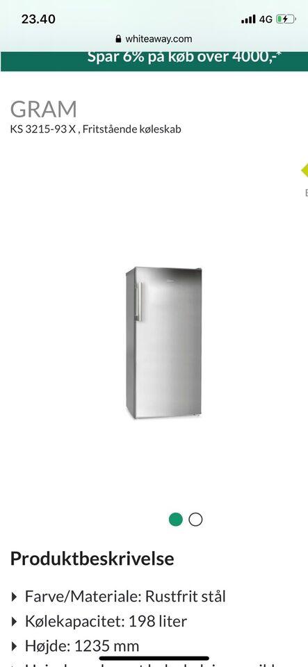 Andet køleskab, Gram