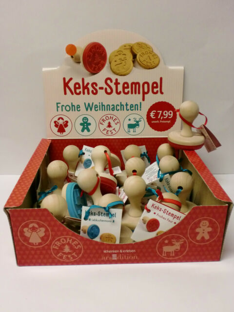 Keks-Stempel ars-Edition,4 Mot/Lebkuchenmann,Frohes Fest, Ein Engel für, Rudolph
