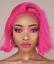 "miniatuur 2 - Pitaya Pink Bob from Temperhair human hair 10"""