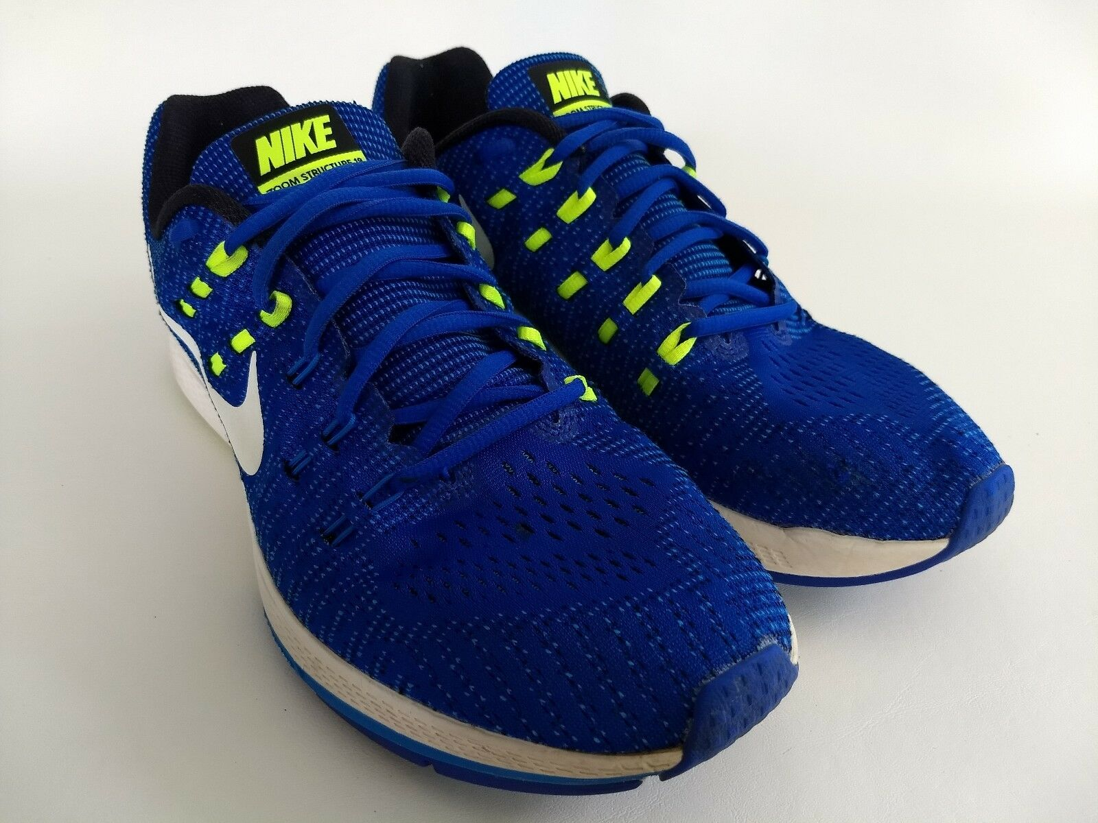 Nike Zoom Structure 19 Mens Size 12 Blue Running Training Trail Walking Sneakers