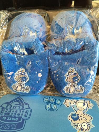 BNIP State of Origin NSW Blues Cute Toddler Kids Soft Sling Back Slippers Sz 5-6