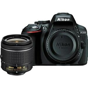 Nikon D5300 with AF-P 18-55mm VR Kit Lens with 16GB...