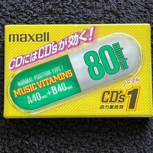 Maxell Music Vitamins CD's 1 80 Type I Cassette Japan Domestic Market