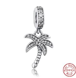 Sterling Silver Palm Tree Dangle Bead