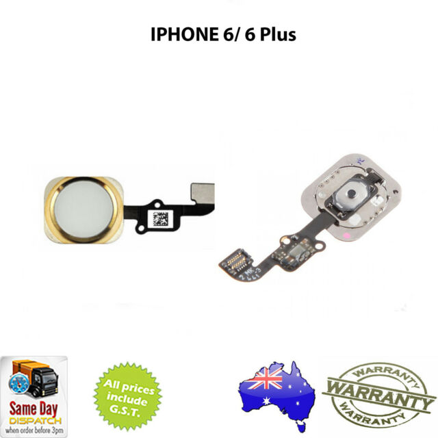 for iPHONE 6 / 6 PLUS - Home Button Assembly with Flex Cable Without IC - GOLD