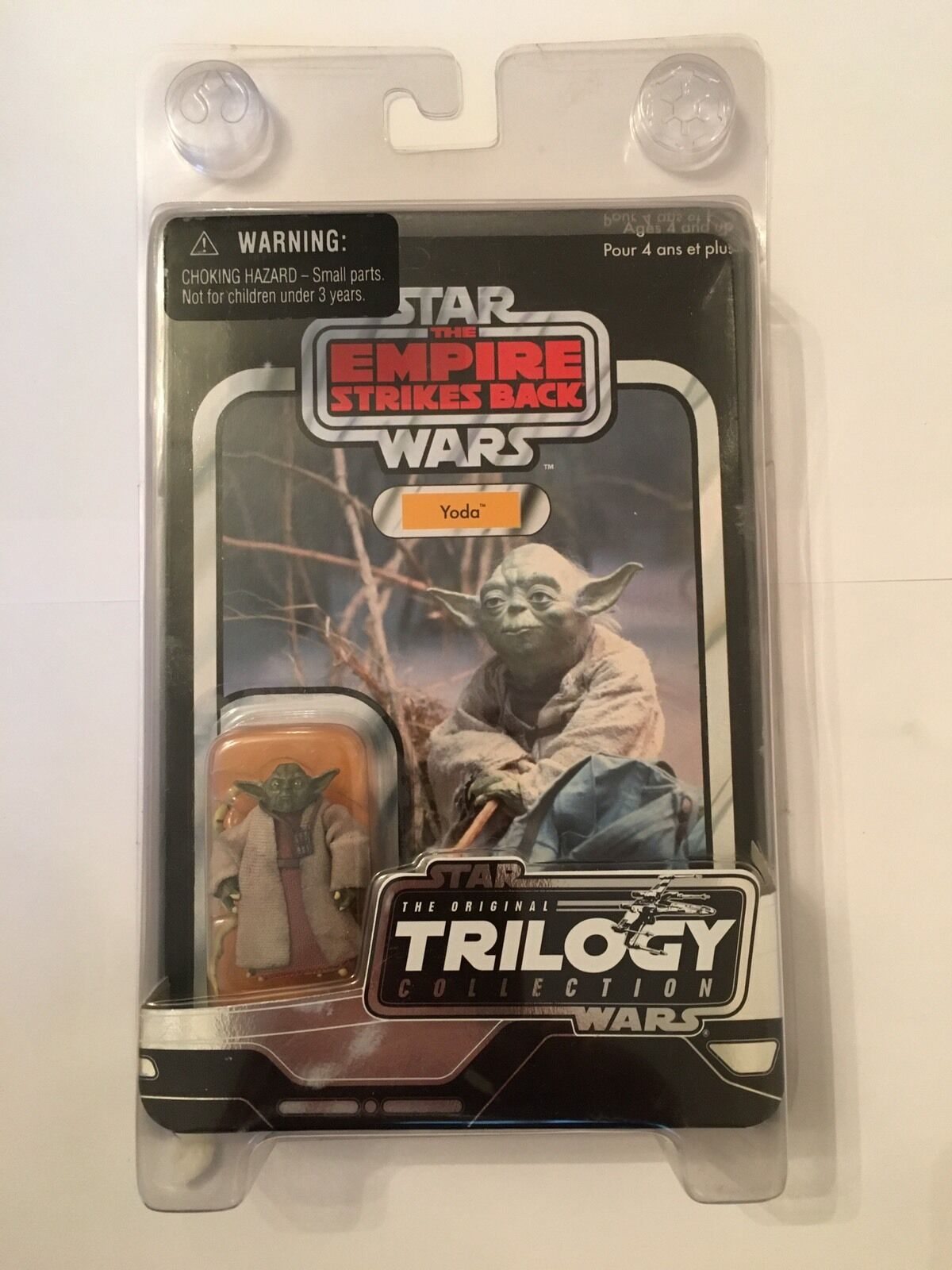 STAR WARS YODA CARDED FIGURE IN STAR CASE - VOTC VINTAGE STYLE ESB