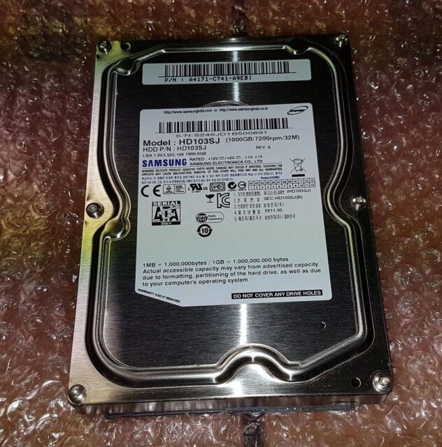 """Samsung Spinpoint 1TB 3.5"""" SATA 3GB/s 7.2K 32MB HDD Internal Hard Drive HD103SJ"""