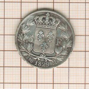 5 Francs Silver Charles X 1829 M Toulouse