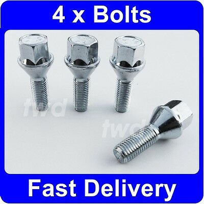 4 x ALLOY WHEEL BOLTS FOR BMW 3-SERIES E21 E30 E36 E46 E90 (M12x1.5) NUTS [H10]