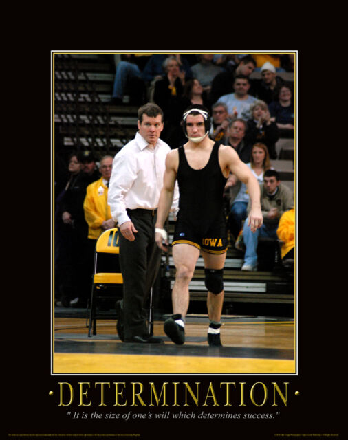 Iowa Hawkeye Wrestling Motivational Poster Art Asics Shoes Tom Brands MVP83