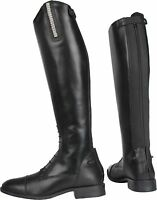 Horka Ladies Tall Horse Riding Boots Amber Bling Dimante Strip All Sizes & Calf