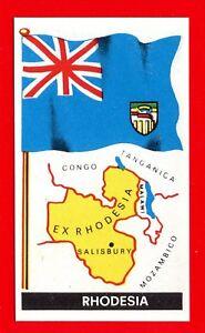 BANDIERE DEL MONDO -Fol.bo 1967- Figurina-Stick<wbr/>er n. 70 - RHODESIA -New
