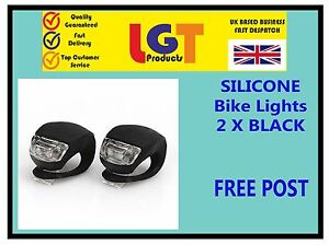 2-X-BLACK-LED-SILICONE-BIKE-BICYCLE-CYCLE-FRONT-CAMPING-BACKPACK-LIGHT