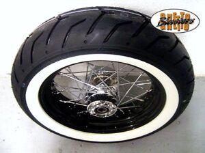 180-65-16-Weisswand-Komplettrad-4-5x16-Schwarz-Felge-fuer-Harley-Sportster-08-18