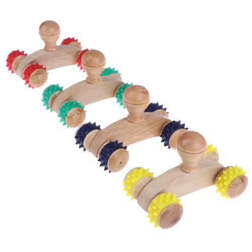 1 Stücke Massivholz Roller Entspannende Handmassage Werkzeug ReflexzoneZJP