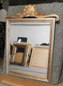 """Large Hand Carved Solid Wood """"33x50"""" Rectangle Beveled ..."""