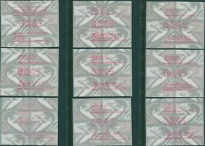 Australia-frama-1992-Emu-set-of-9-MNH