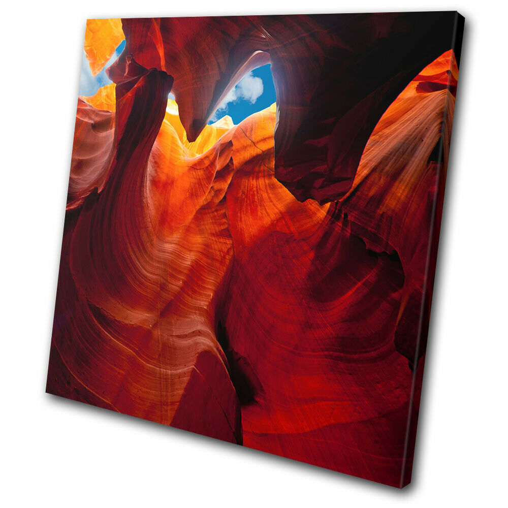 Antelope Canyon Arizona rosso Landscapes SINGLE TELA parete arte foto stampa
