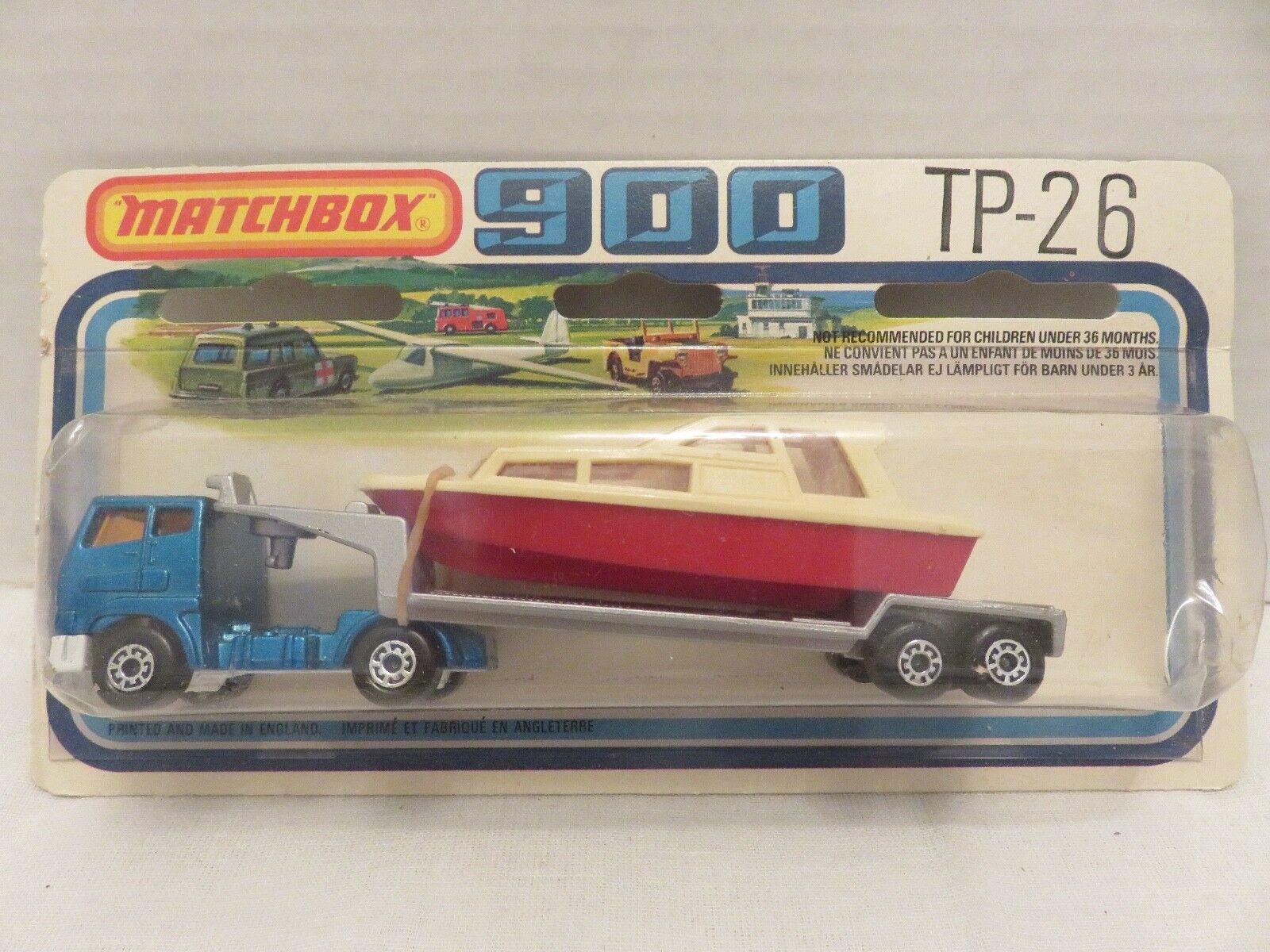 1978 MATCHBOX SUPERFAST 900 Articulé Camion LOW BED TRAILER TP-26 Die-Cast