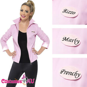 1368ed6f20a Image is loading Deluxe-1950s-Grease-Pink-Lady-Jacket-Ladies-Badges-