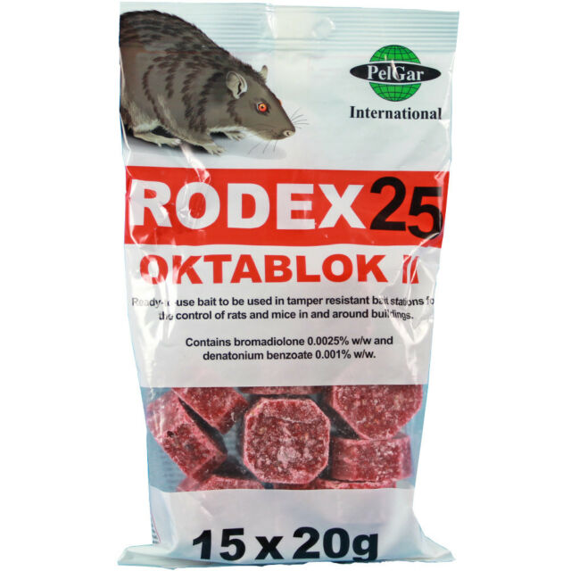 Rodex25 Whole Wheat Rat PoisonStrongest Available Online 15 x 100g Sachets