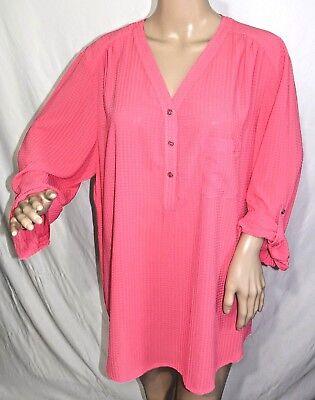 Southern Lady Women Plus Size 1x 2x 3x Turquoise White Check Button Down Shirt