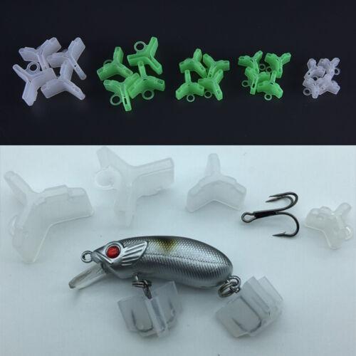 50pcs Durable Fishing Treble Hooks Covers Case Bonnets Caps Protector Set  HC